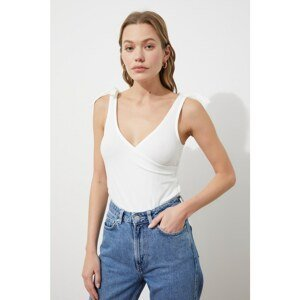 Trendyol Ecru Double Breasted Snap Fastener Knitted Body