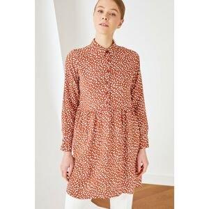 Trendyol Tile Shirt Collar Tunic Dress