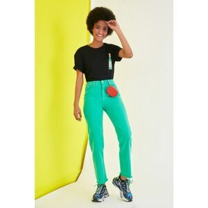 Trendyol Green High Waist Bootcut Jeans