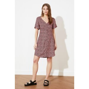 Trendyol Multicolored Floral Patterned Button Dress