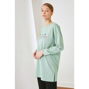 Trendyol Green Knitted Sweatshirt