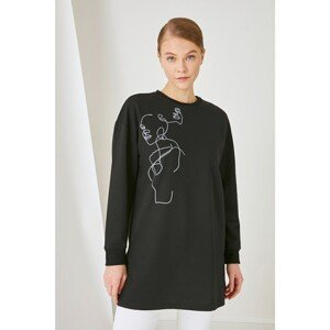 Trendyol Black Knitted Sweatshirt
