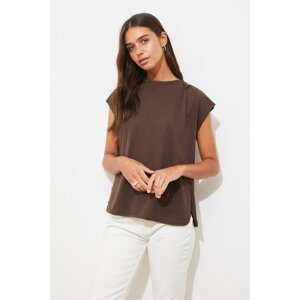 Trendyol Dark Brown Knitted Blouse