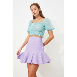 Trendyol Lilac Flounce Shorts & Bermuda