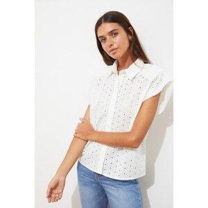 Trendyol Ecru Brode Shirt