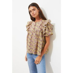 Trendyol Multicolored Button Detailed Blouse
