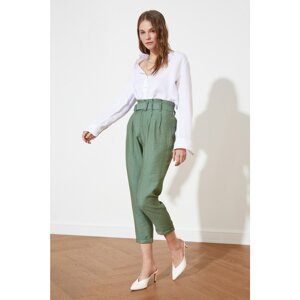 Trendyol Light Khaki Belt Trousers