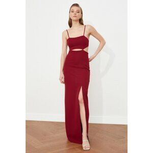 Trendyol Burgundy Slit Detailed Evening Dress & Graduation Gown