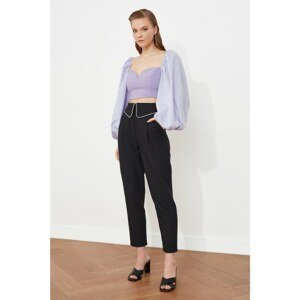 Trendyol Black Accessory Detailed Trousers