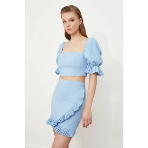 Trendyol Lilac Pleated Detailed Skirt
