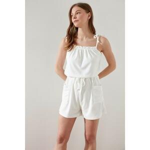 Trendyol White Knitted Overalls