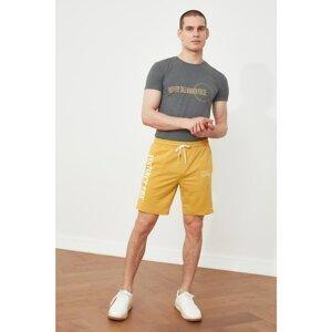 Trendyol Mustard Men's Regular Fit Shorts & Bermuda