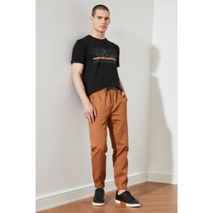 Trendyol Brown Men's Elastic Waist Jogger Pants with Pockets