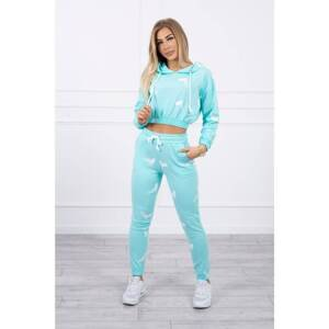 Set with printed pistols mint