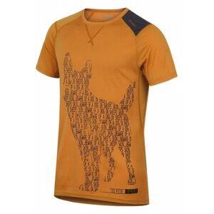 Merino thermal underwear T-shirt short men's Dog brown-orange
