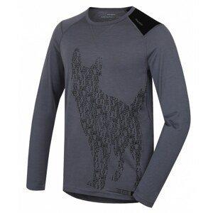 Merino thermal underwear T-shirt long men's Dog gray