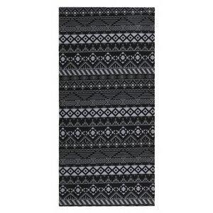 multifunctional scarf Printemp gray triangle stripes