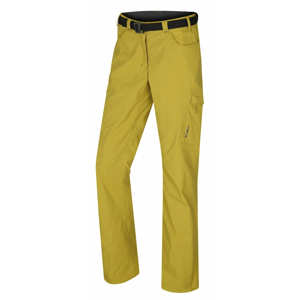 Women's outdoor pants Kahula L yellow-green