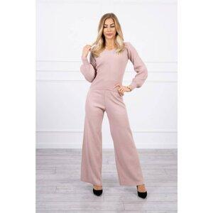 Sweater set dark powdered pink