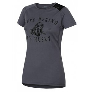 Merino thermal underwear T-shirt short women's Puppy gray