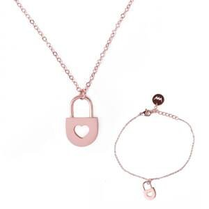 Bracelet and necklace Vuch Key Gold Couple