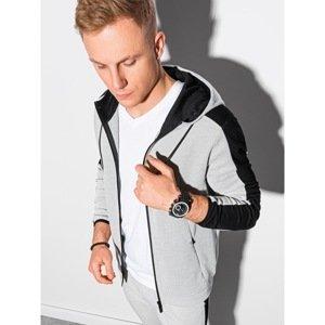 Ombre Clothing Men's zip-up sweatshirt B1159