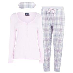 SoulCal 3 Piece Flannel Pyjama Set Ladies