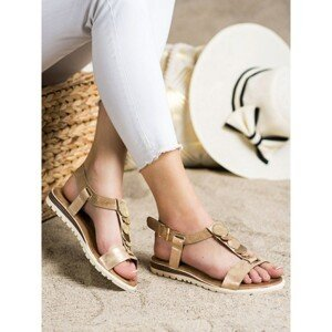 EVENTO GOLD SANDALS WITH ORNAMENTS