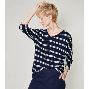 Click Woman's Blouse Taram Navy Blue