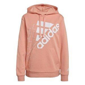 Adidas Brand Love Slanted Logo Relaxed Hoodie Womens