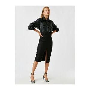 Koton Belted Slit Skirt