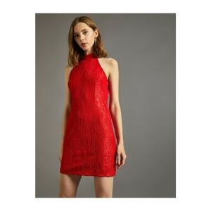 Koton Women's Patterned Dress Evening Dress