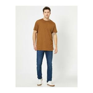 Koton Men's Blue Brad Slim Fit Jean Trousers