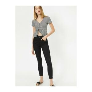 Koton Women's Black Carmen Jeans