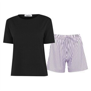 Miso Stripe Lilac Shorts and Tee PJ Set Co Ord