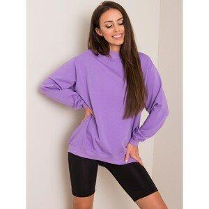 Basic purple cotton sweatshirt