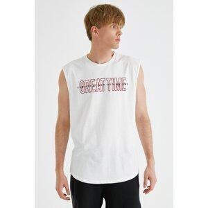 Koton Men's White Slogan Athlete