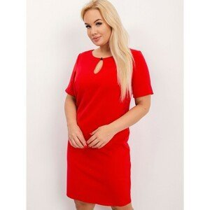 Plus size red dress with a zipper