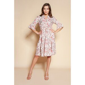 Lanti Woman's 3/4 Sleeve Dress Suk197