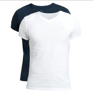 2PACK men's t-shirt Gant blue / white (901002118-109)