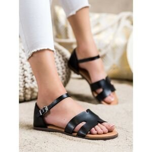 IDEAL SHOES CLASSIC ECO LEATHER SANDALS
