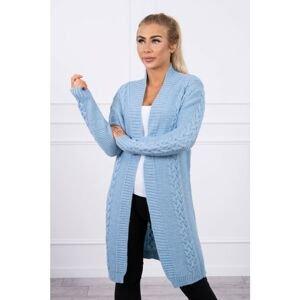 Sweater Cardigan weave the braid azure