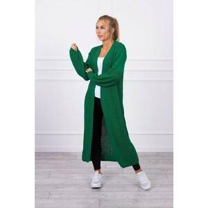 Sweater long cardigan green