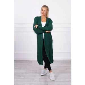 Sweater long cardigan dark green