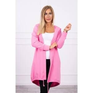 Cardigan with print light pink