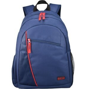 Semiline Unisex's Youth Backpack 3284-1 Navy Blue/Red
