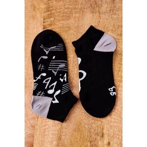 Mismatched Socks With Notes Black