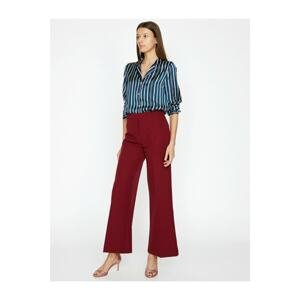 Koton Women's Claret Red Pants