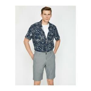Koton Men's Pocket Detailed Slim Fit Sort