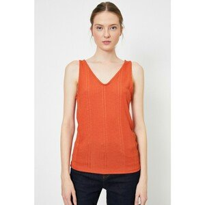 Koton Women's Hollow Collar Singlet